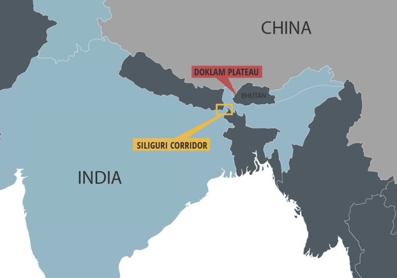 Map Of Asia Bhutan.South Asia Lse Running Hot And Cold Bhutan India China Relations